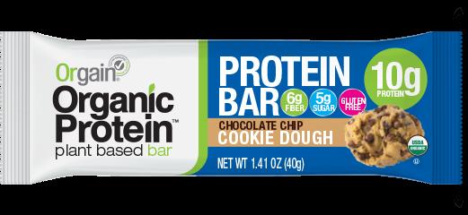 Orgain Chocolate Chip Cookie Dough Protein Bar