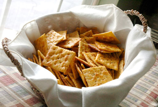 fried crackers in a basket