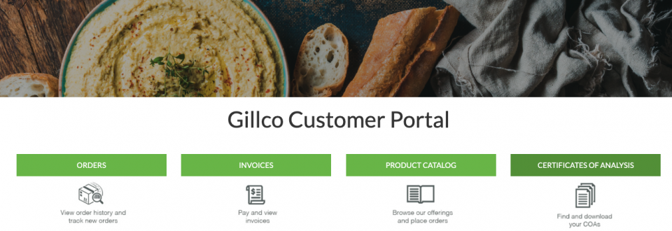 Gillco Ingredients Customer Portal
