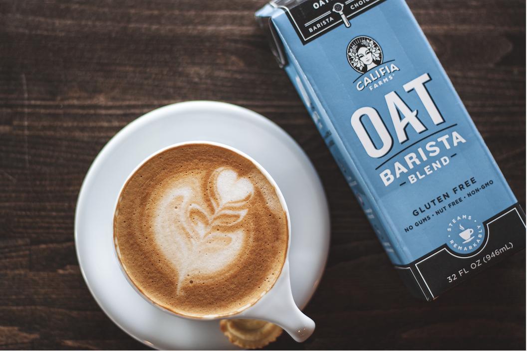 Oat milk latte califia