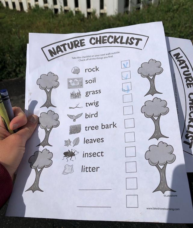 nature checklist for kids
