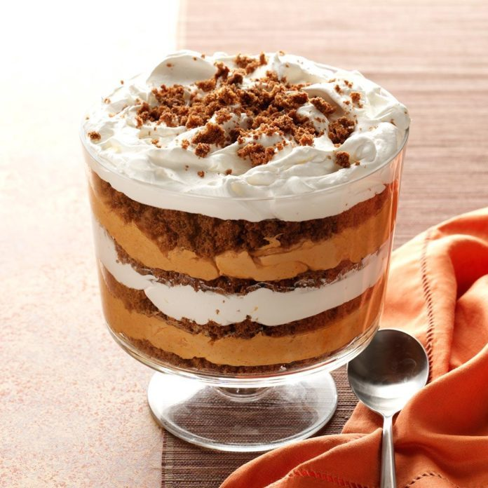 pumpkin butterscotch trifle cake